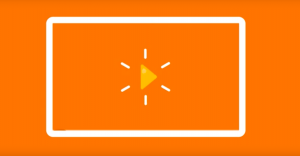 orange play button