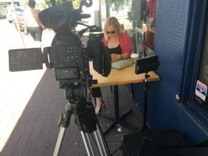 outside video shoot